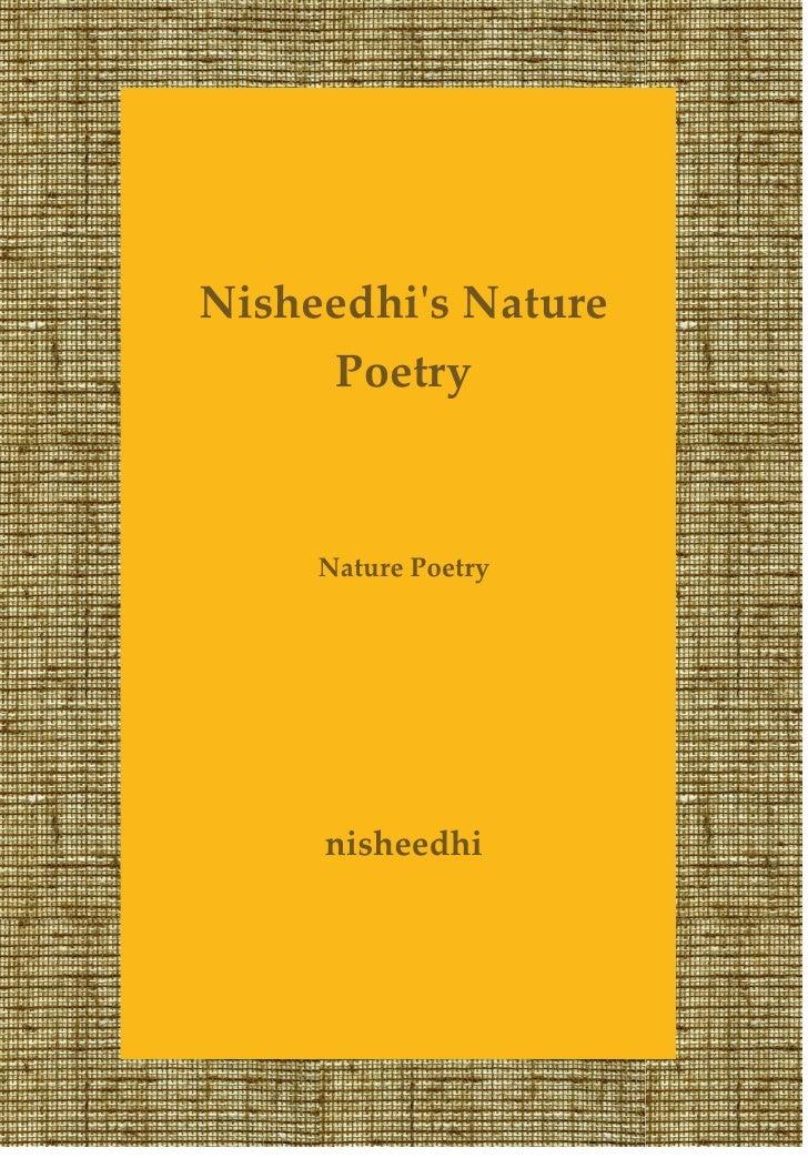 Nisheedhis Nature     Poetry     Nature Poetry     nisheedhi