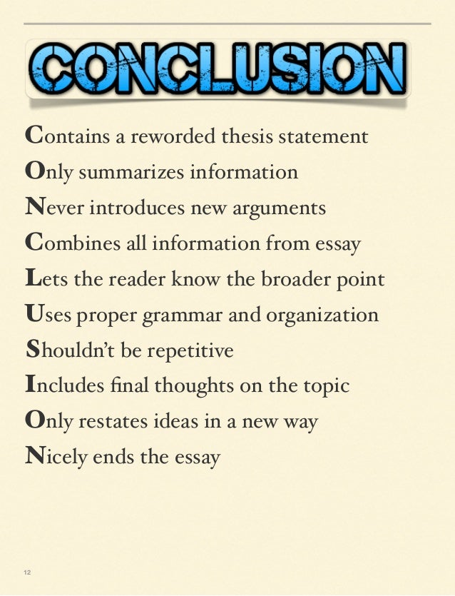 how to write a conclusion for a technical report