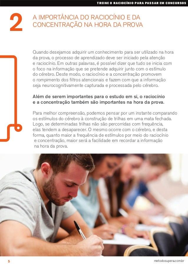 A IMPORTÂNCIA DO RACIOCÍNIO E DA CONCENTRAÇÃO NA HORA DA PROVA 2 TREINE O RACIOCÍNIO PARA PASSAR EM CONCURSOS 5 metodosupe...