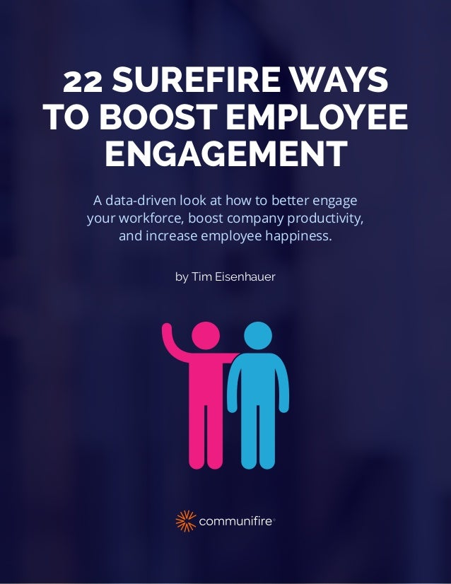 by Tim Eisenhauer A data-driven look at how to better engage your workforce, boost company productivity, and increase empl...
