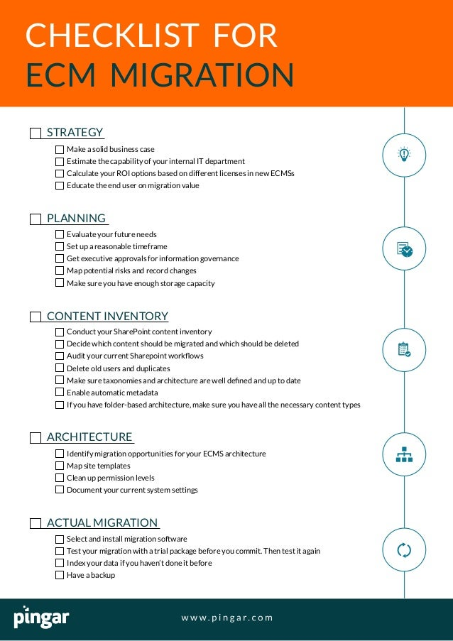 System Migration Checklist