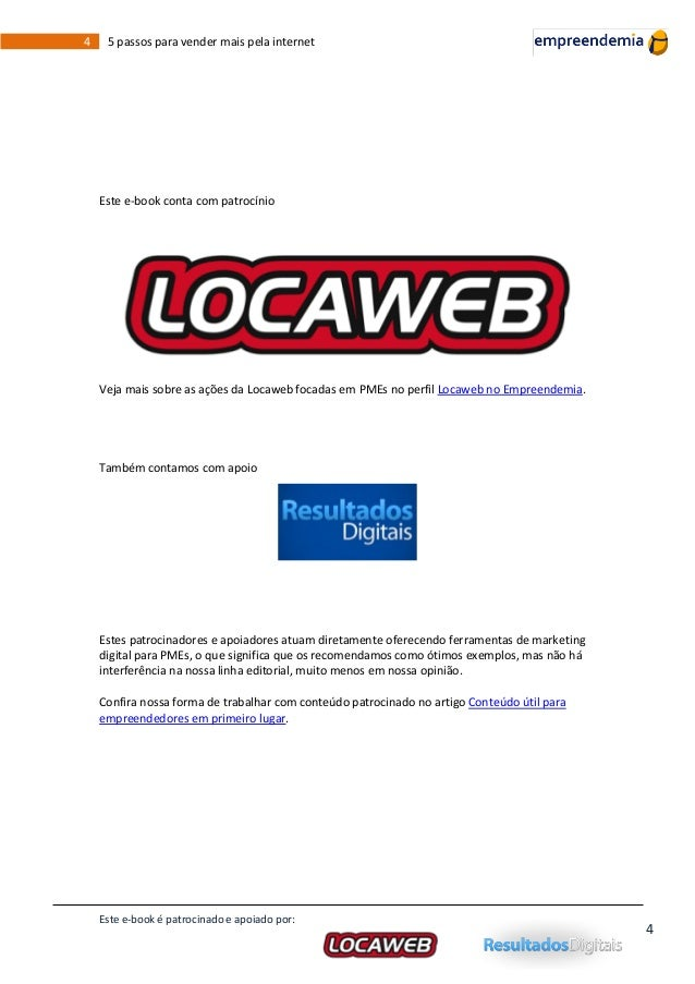 Locaweb ebook 5 passos para vender mais pela internet 4 fandeluxe Image collections