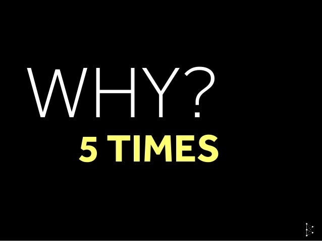 WHY? 5 TIMES