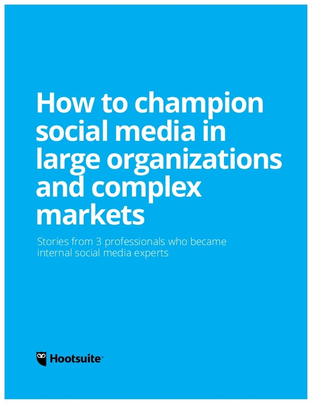 How to champion social media in large organizations and complex markets