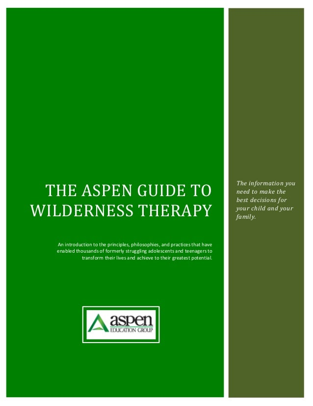 THE ASPEN GUIDE TO                                                                             The information you        ...