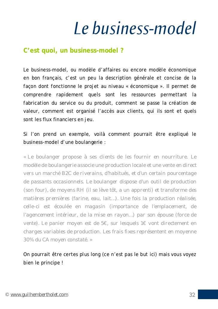 Le business-model       C'est quoi, un business-model ?       Le business-model, ou modèle d'affaires ou encore modèle éco...