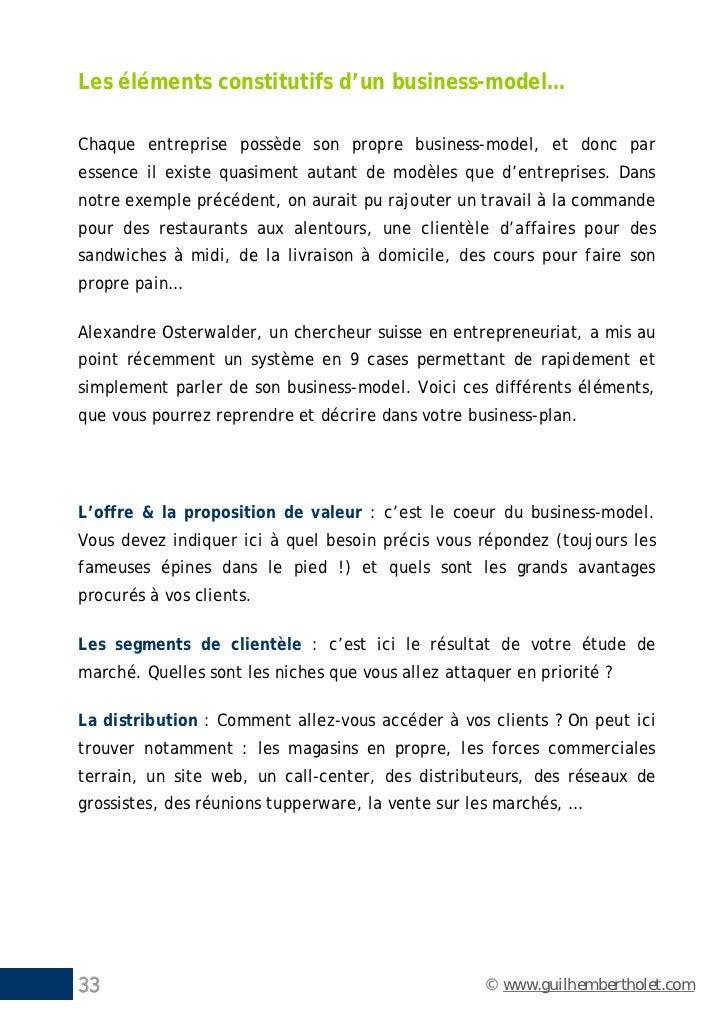 Les éléments constitutifs d'un business-model…Chaque entreprise possède son propre business-model, et donc paressence il e...