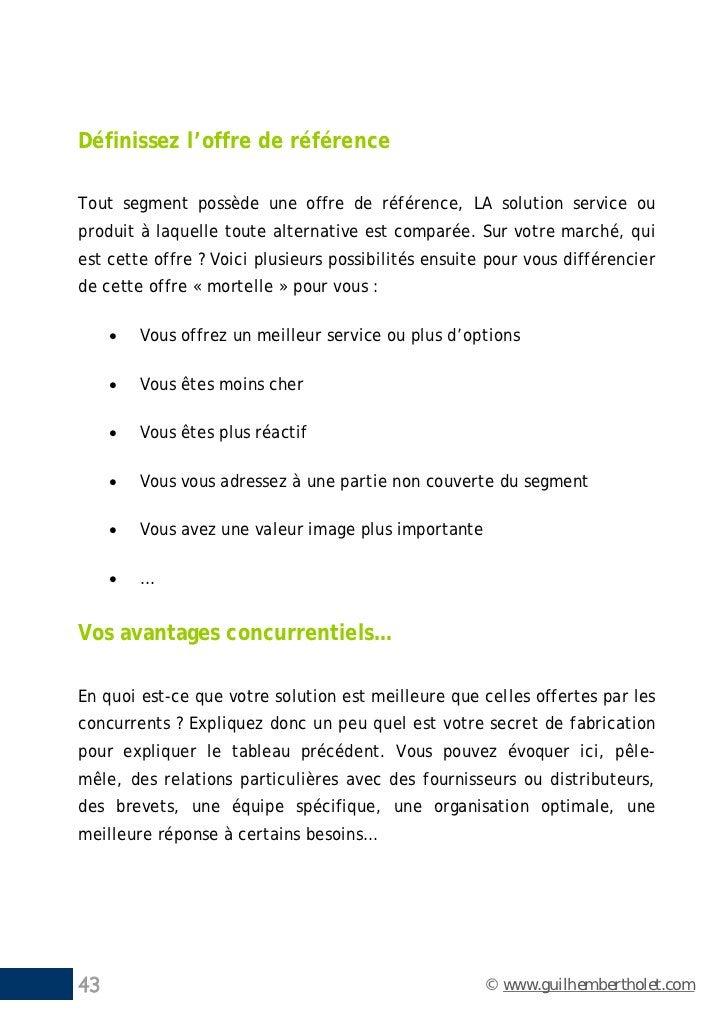 Définissez l'offre de référenceTout segment possède une offre de référence, LA solution service ouproduit à laquelle toute...