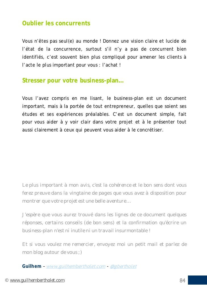 Ecrire son business-plan - Garanti 0% BullShit - Par Guilhem Bertholet
