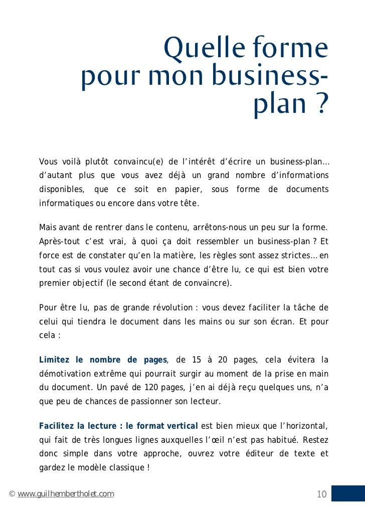 modele de business plan gratuit doc