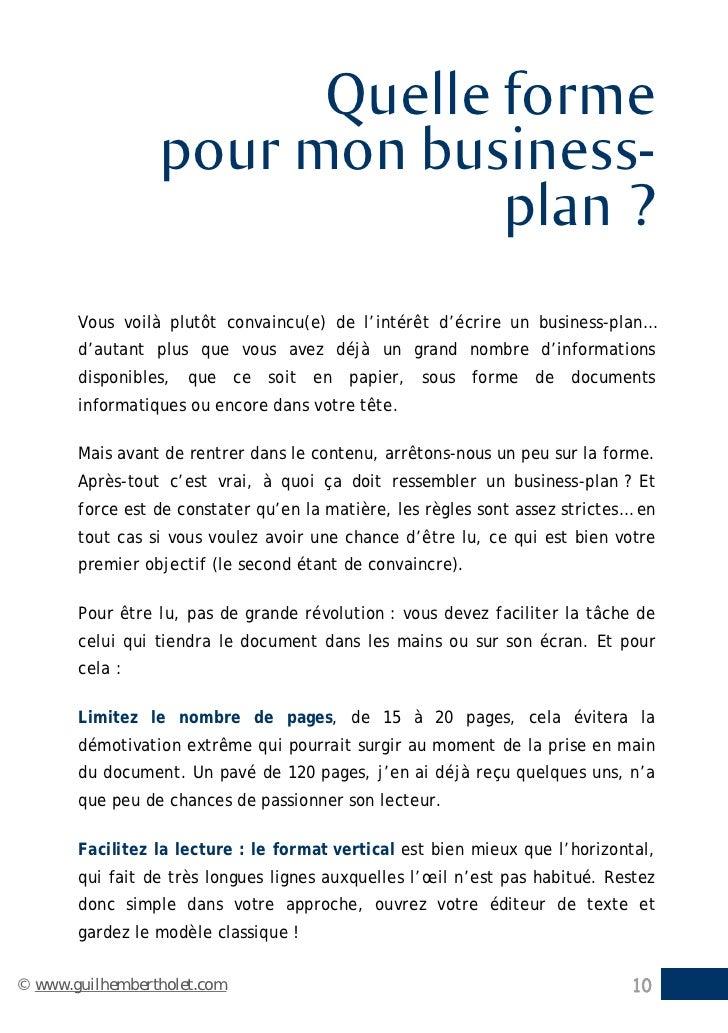 modele de business plan gratuit doc