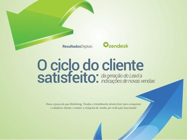 Ociclodocliente satisfeito:dageraçãodoLeada indicaçõesdenovasvendas Passo a passo do que Marketing, Vendas e Atendimento d...