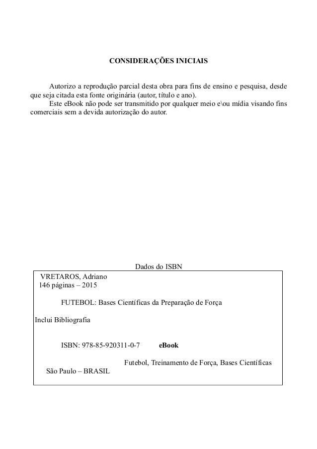 E-book - Futebol: Bases Científicas da Preparação de Força (ISBN: 978-85-920311-0-7)  Slide 3