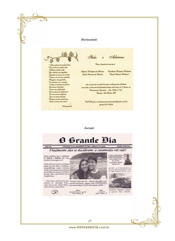 Noivos convidam:     Fonte: Passport Convites                                        2                            www. noi...