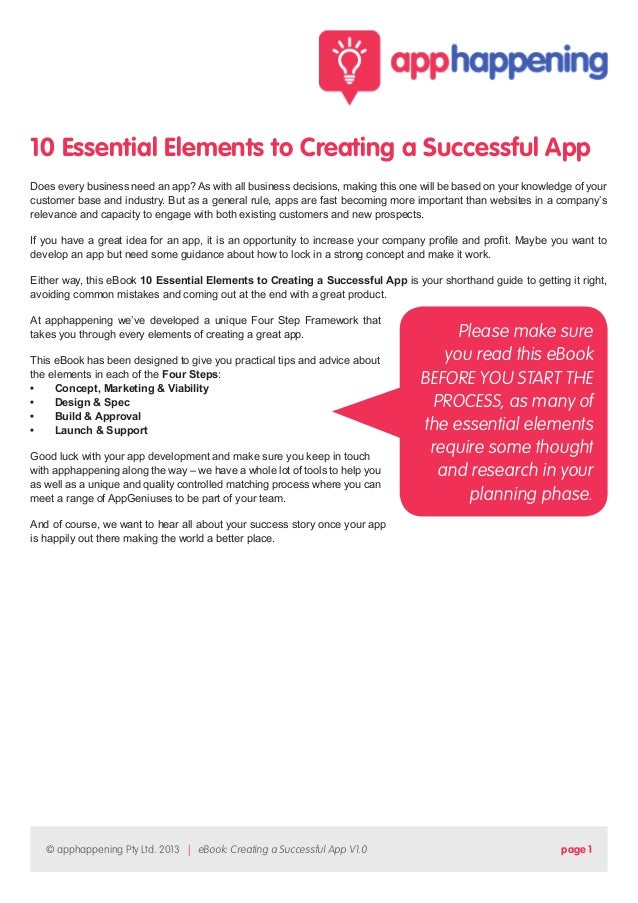 10 Essential Elements to Creating a Successful App Does every business need an app? As with all business decisions, making...