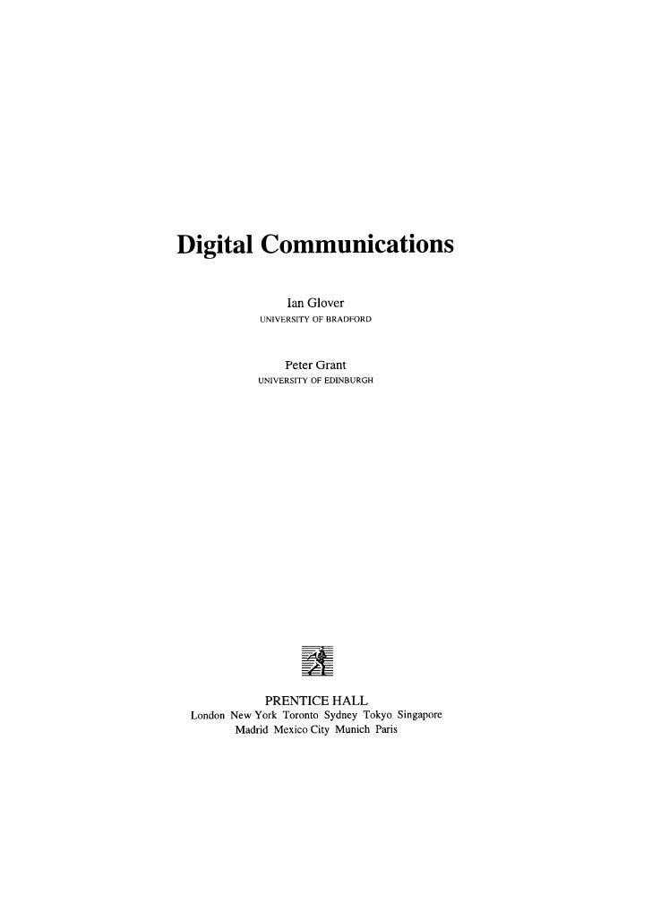 [E book]   digital communications - prentice hall 2000