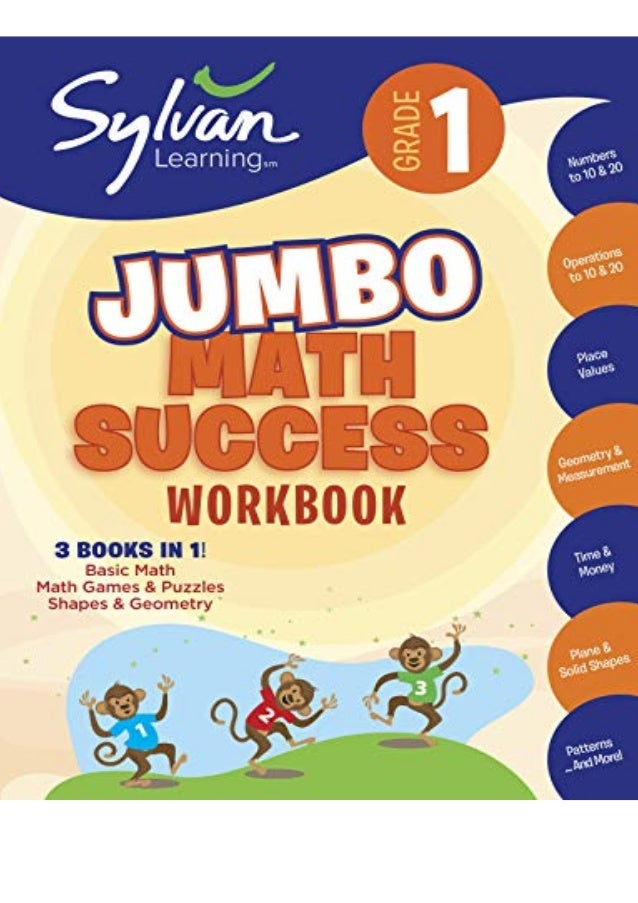 Ebook (download) 1st Grade Jumbo Math Success Workbook: Activities, Exercises, and Tips to Help Catch Up, Keep Up, and Get...