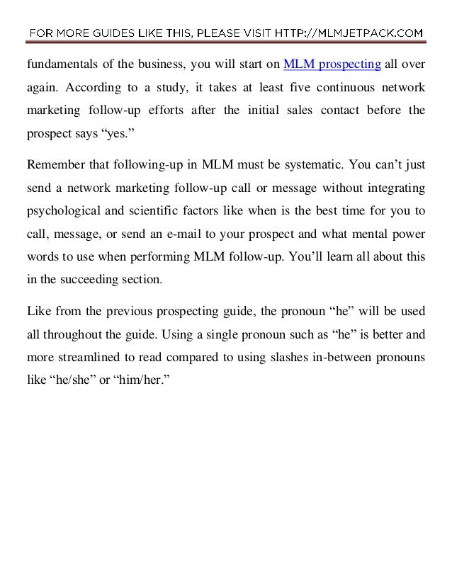 The ABCs of Effective MLM Follow-Up That Will Increase Your Sales (PDF Version 1.0) Slide 2