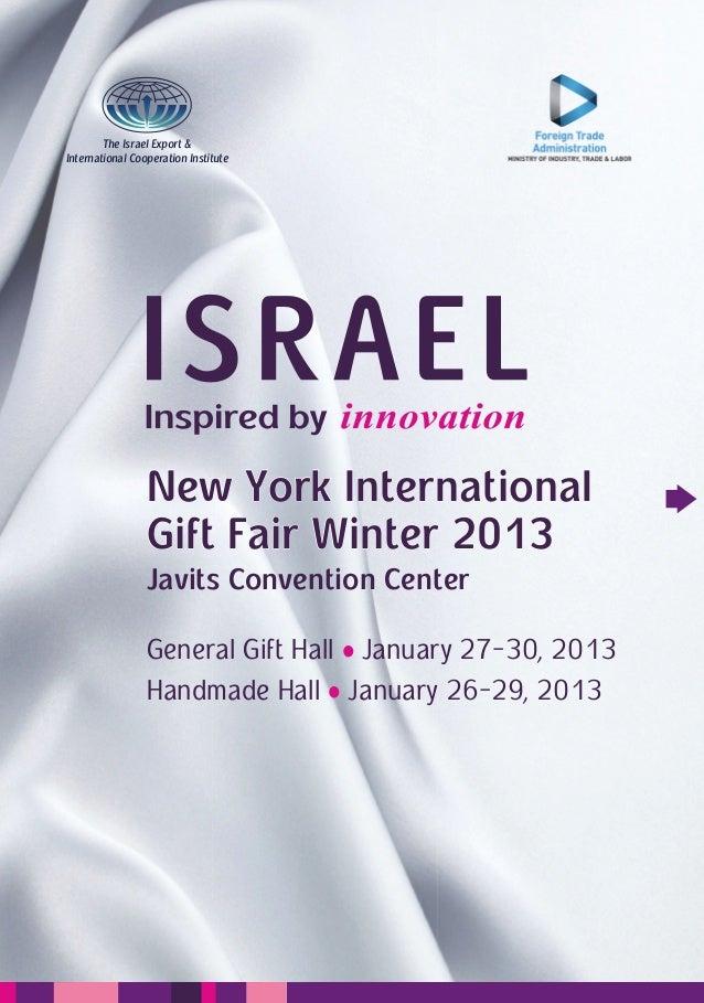 The Israel Export &International Cooperation Institute                 New York International                 Gift Fair Wi...