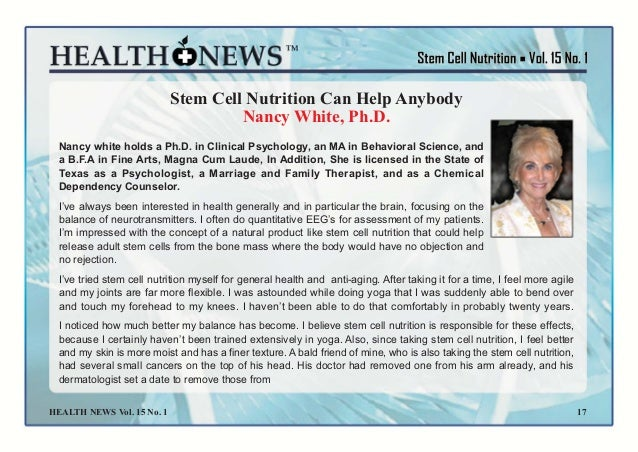 Nutrisi stem cell rekomendasi para ahli medis 18 fandeluxe Images