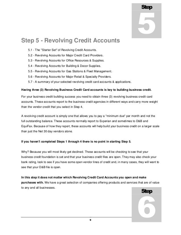 Learn how to build business credit scores fast to get the money your step 5 step 6 11 ccuart Gallery