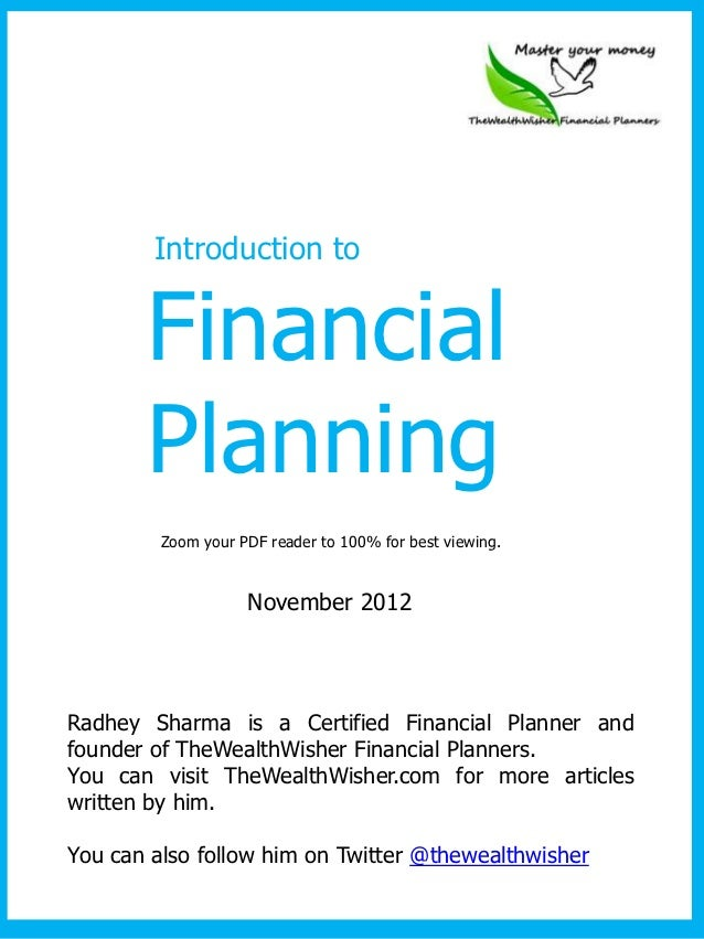 Introduction to       Financial       Planning         Zoom your PDF reader to 100% for best viewing.                    N...
