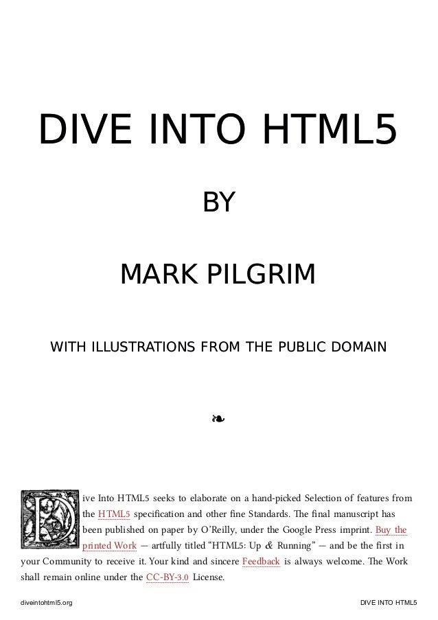 Dive Into Html5 Epub