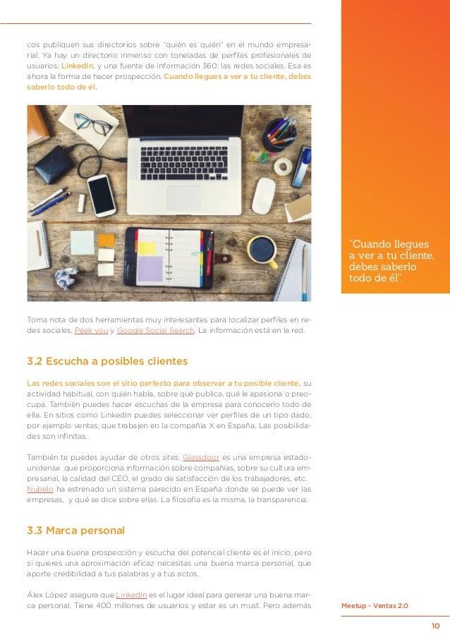 """10 Meetup - Ventas 2.0 cos publiquen sus directorios sobre """"quién es quién"""" en el mundo empresa- rial. Ya hay un directori..."""