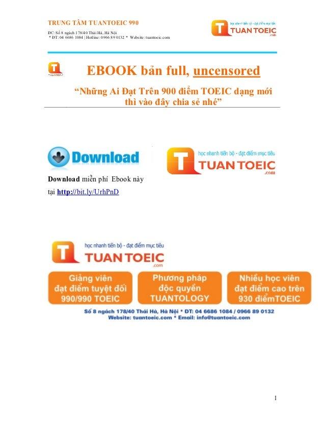 TRUNG TÂM TUANTOEIC 990ĐC: Số 8 ngách 178/40 Thái Hà, Hà Nội* ĐT: 04 6686 1084 | Hotline: 0966 89 0132 * Website: tuantoei...