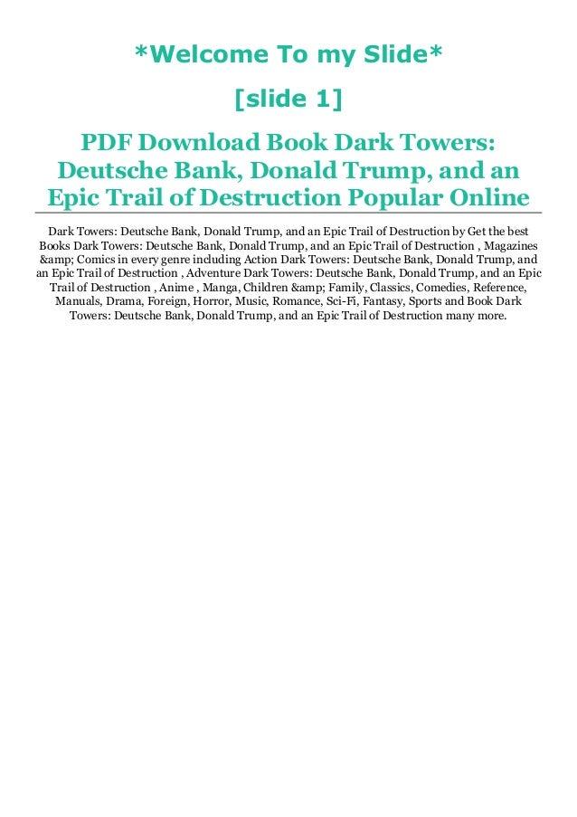 Dark towers pdf free download
