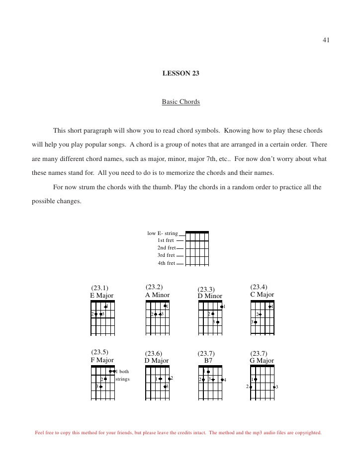 Perfect Chord Guitar Home Component - Basic Guitar Chords For ...