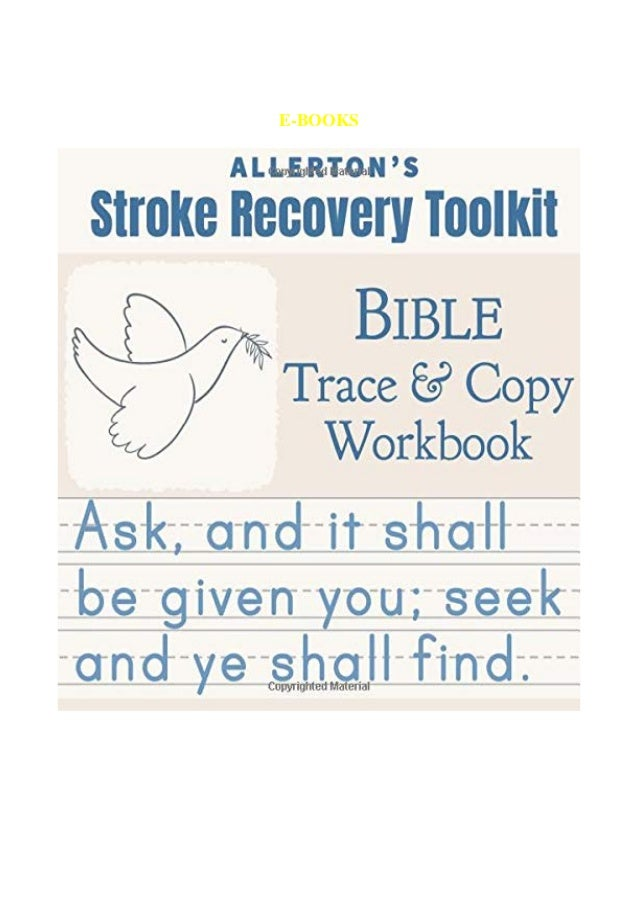 Ebook Pdf Stroke Recovery Toolkit Bible Trace Copy Workbook Print H