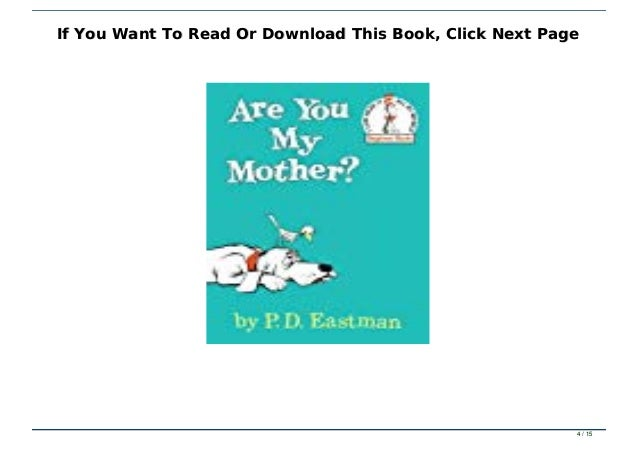 Ebook Reading Are You My Mother Full Pdf