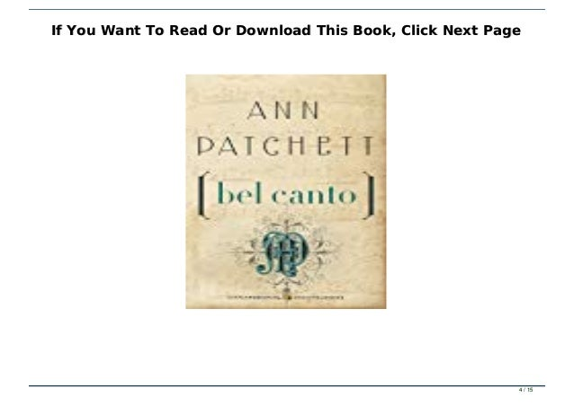 Ebook Reading Bel Canto Full Pdf