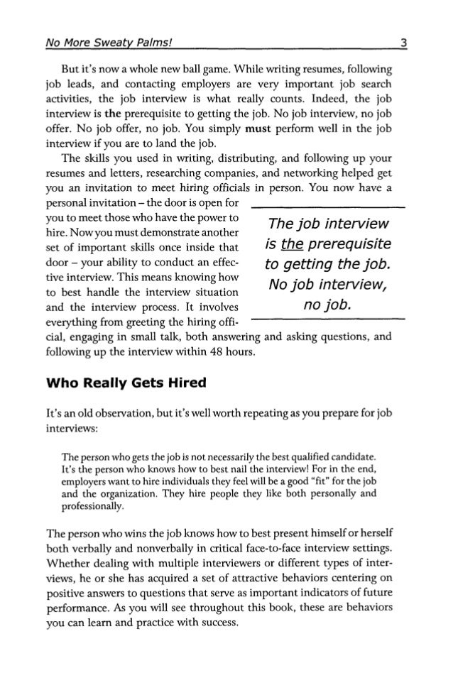 how to write resume for job interview