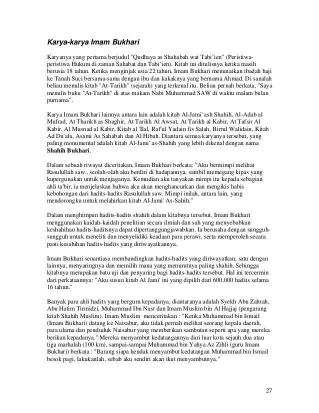 Ebook Hadits Shahih Bukhari