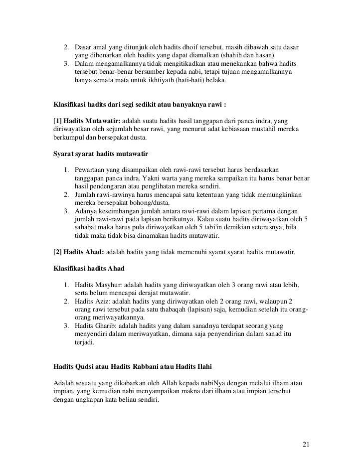 Ebook Ringkasan Kitab Hadist Shahih Imam Bukhari