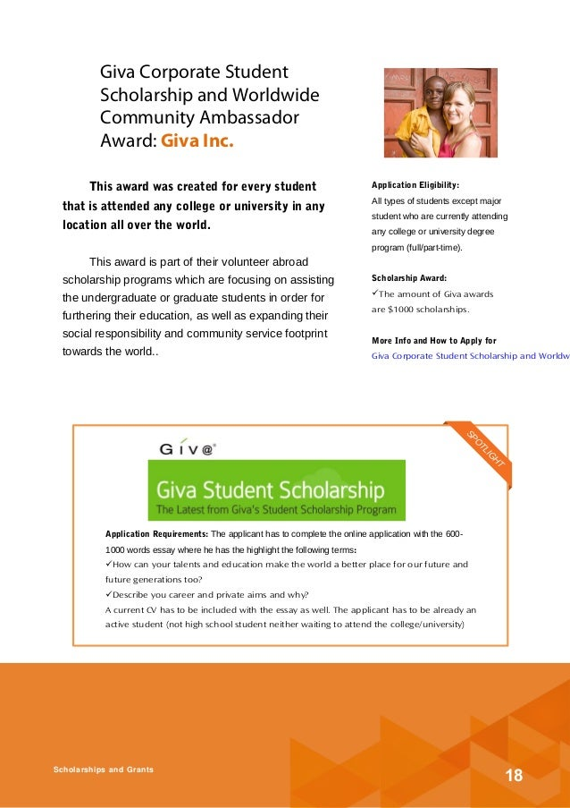 scholarship essay 2013 Scholarship essay - a scholarship essay is very similar to the personal essay/statement in it, you are required to supplement information provided on your application form with additional facts about you as a person which will help the assessment/admission procedure.