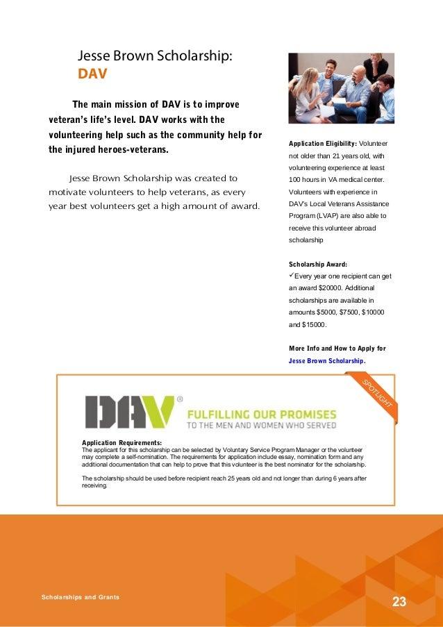 volunteer essay scholarship