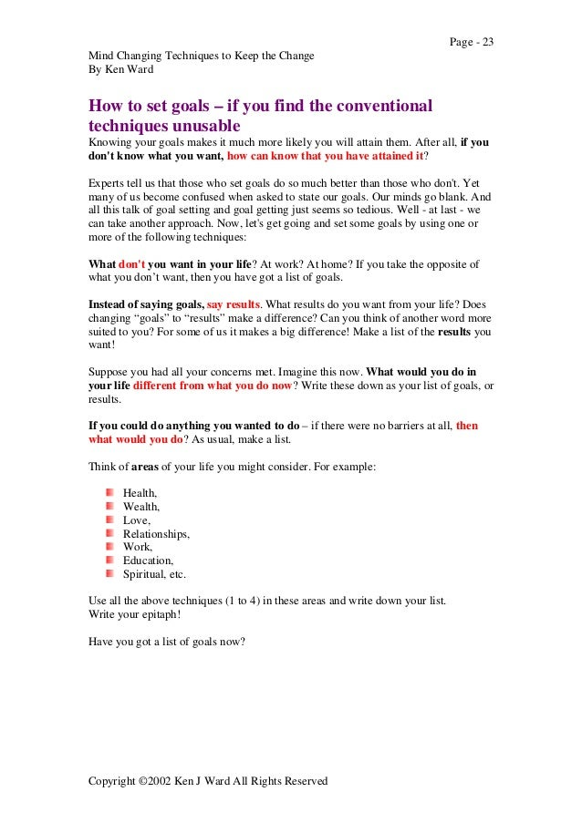 Ebook Self Help Nlp Mind Change Techniques