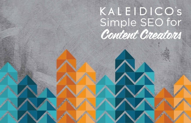 Simple SEO for Content Creators The Web has created a liberating, self-publishing, and distribution ecosystem for writers,...