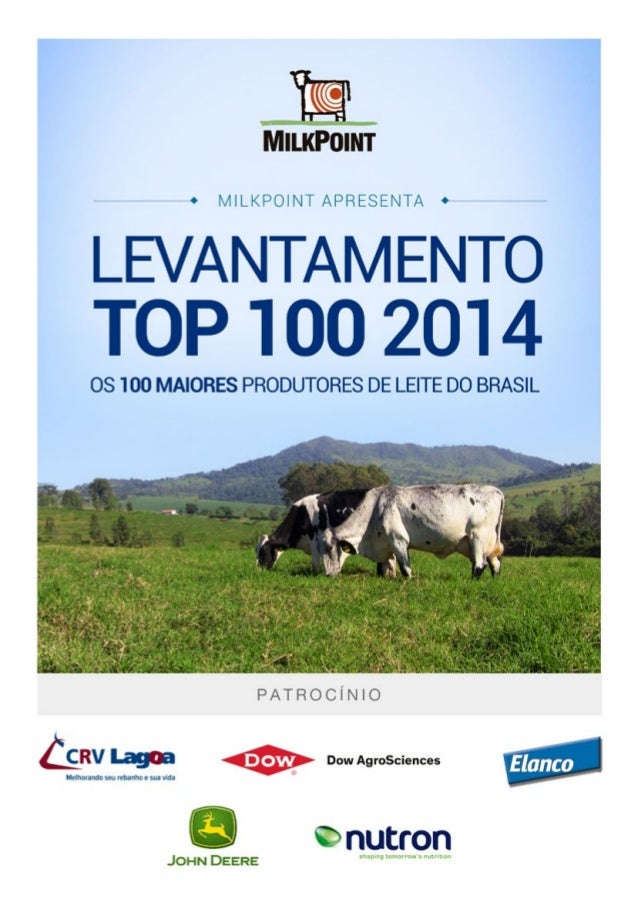 Resumo • Os 100 maiores produtores em 2013 apresentaram produção média de 13.848 litros por dia, 9,7% a mais do que os 100...