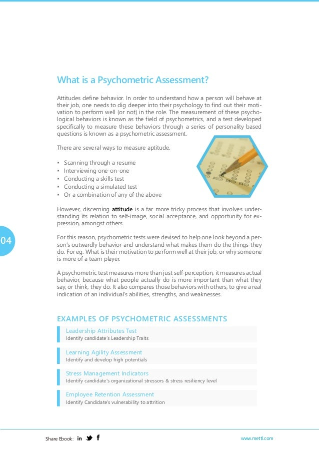 Mettl Ebook Use Of Psychometric Assessments