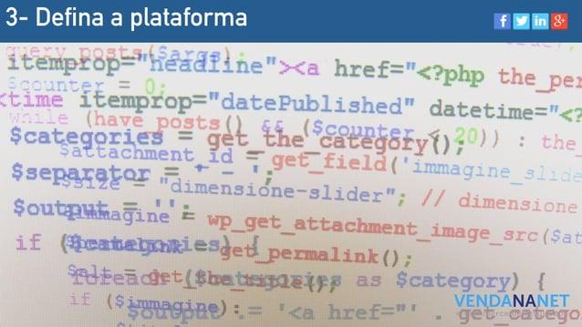 3- Defina a plataforma
