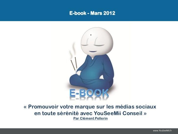 E-book - Mars 2012« Promouvoir votre marque sur les médias sociaux    en toute sérénité avec YouSeeMii Conseil »          ...