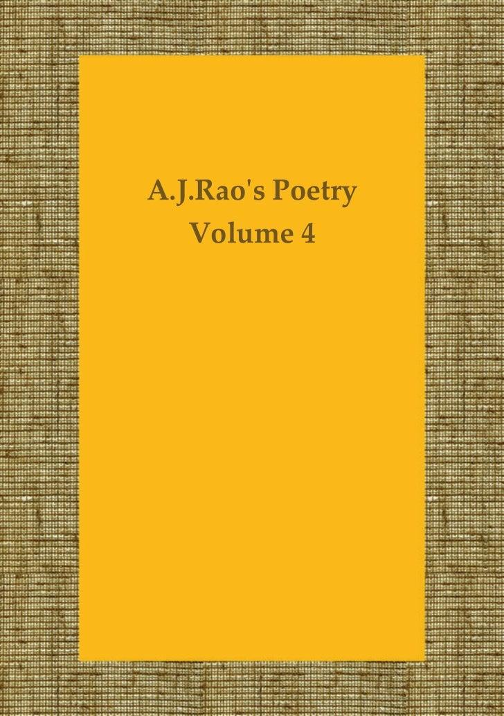 A.J.Raos Poetry   Volume 4