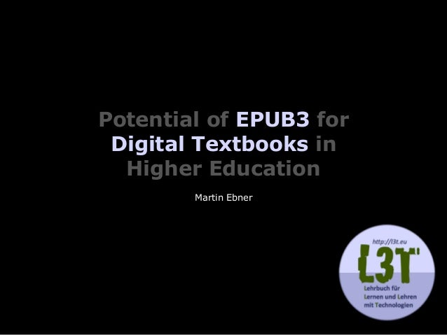 Potential of EPUB3 for 