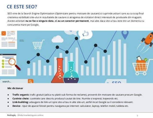 CE ESTE SEO? Netlogiq - Ghidul marketingului online SEO vine de la Search Engine Optimization (Optimizare pentru motoare d...