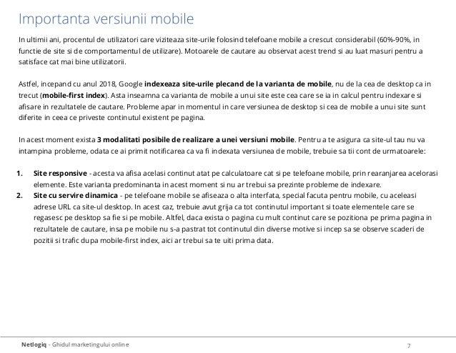 Netlogiq - Ghidul marketingului online 7 In ultimii ani, procentul de utilizatori care viziteaza site-urile folosind telef...