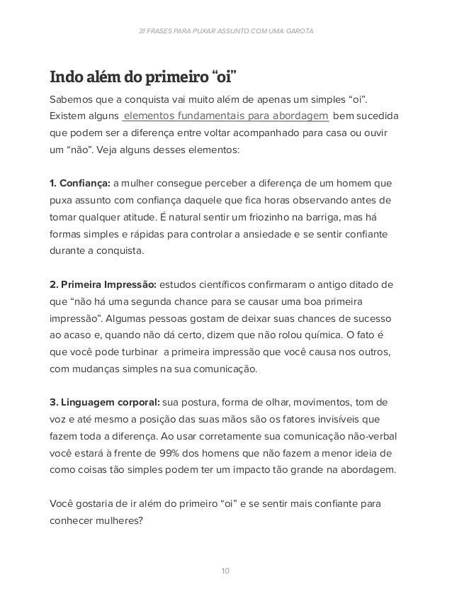 Ebook 31 Frases Para Puxar Assunto Com Uma Mulher Eduardo Santorini